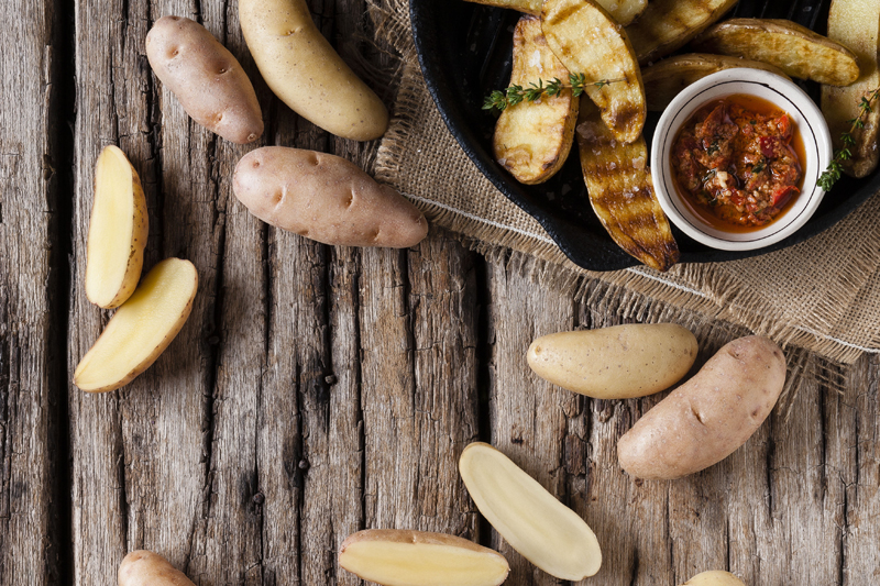 Roasted Gourmet Fingerling Potatoes and Carrots